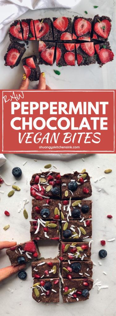 peppermint vegan chocolate fudge