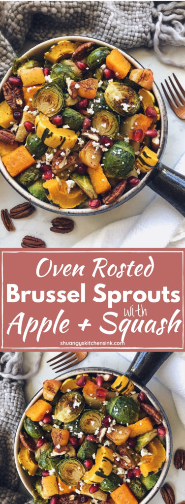 roasted apple brussel sprouts