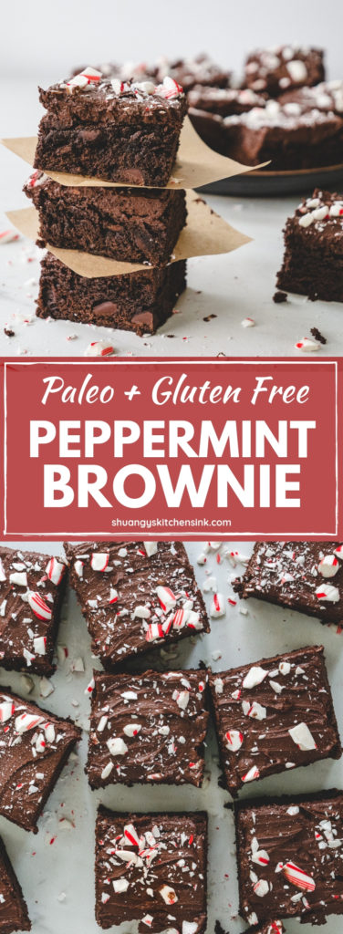 sweet potato brownies paleo peppermint