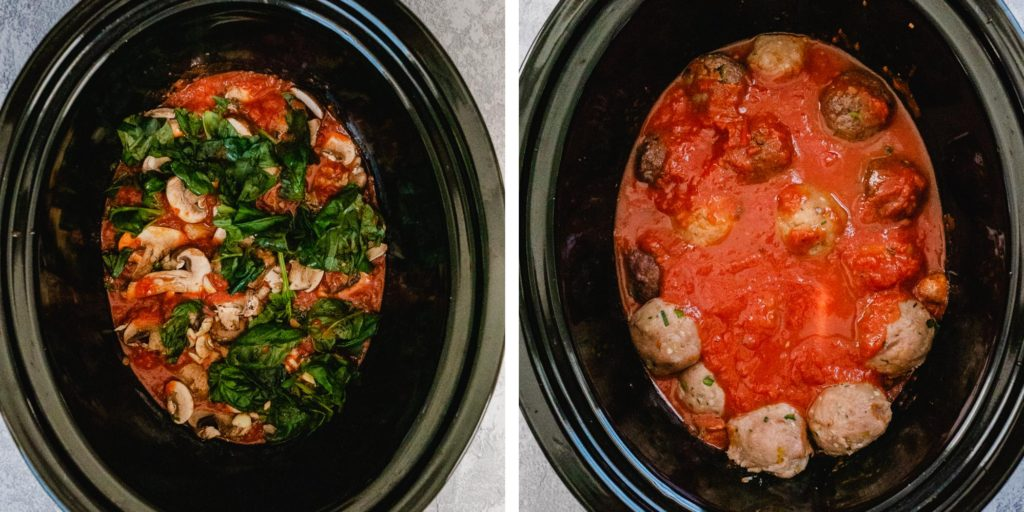 Whole 30 Crockpot Meatballs | Looking for an easy Whole 30 crockpot recipe? This it! These healthy meatballs are delicious + Paleo and gluten-free. They're awesome as a Whole 30 dinner or any time you want an easy healthy meal. Enjoy! | Shuangy's Kitchen Sink #ShuangysKitchenSink #Whole30 #Paleo #glutenfree #dairyfree #crockpot #slowcooker #crockpotrecipe #healthyrecipe #healthydinner #Whole30dinner #Whole30crockpot #Whole30recipe
