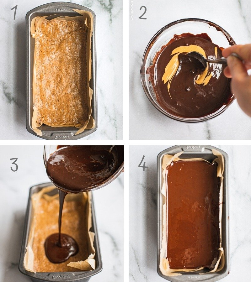 Step by Step Instruction on how to make No Bake Peanut Butter Chocolate Bars