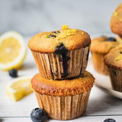 Healthy Lemon Blueberry Muffins