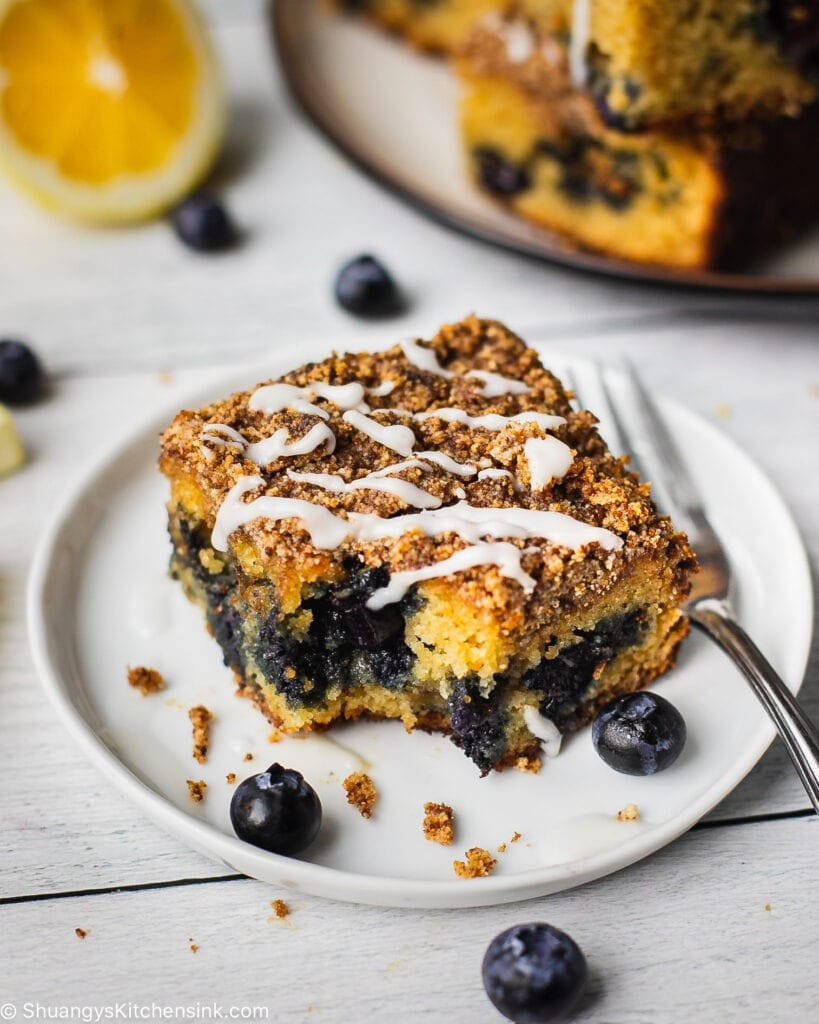 Healthy Lemon Blueberry Coffee Cake