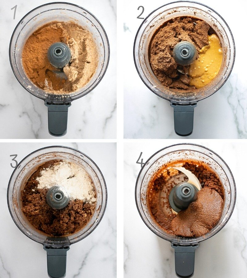instructions on how to make no bake chocolate cookies in a food processor.