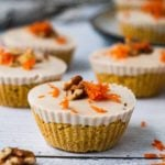 Raw Carrot Cake Bites with Coconut Cashew Cream