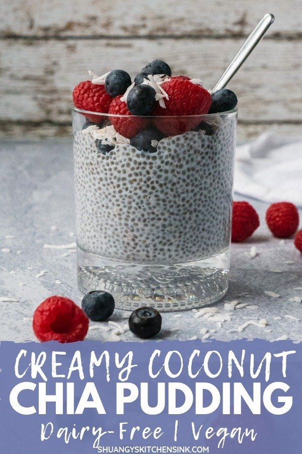 Overnight Chia Pudding | This Overnight chia pudding breakfast recipe is creamy, sweet and so easy to make. it is paleo, Vegan, Gluten Free, Dairy Free, Whole 30. It is packed, healthy fats, fiber and protein. It makes the best low-carb and satisfying overnight breakfast, dessert or snack. And It is also super easy to make overnight. |#shuangyskitchensink #veganbreakfast #chiapudding #chiapuddingrecipe #healthybreakfast #dairyfree #chiaseeds #superfood #easybreakfast #easydessert #easysnack
