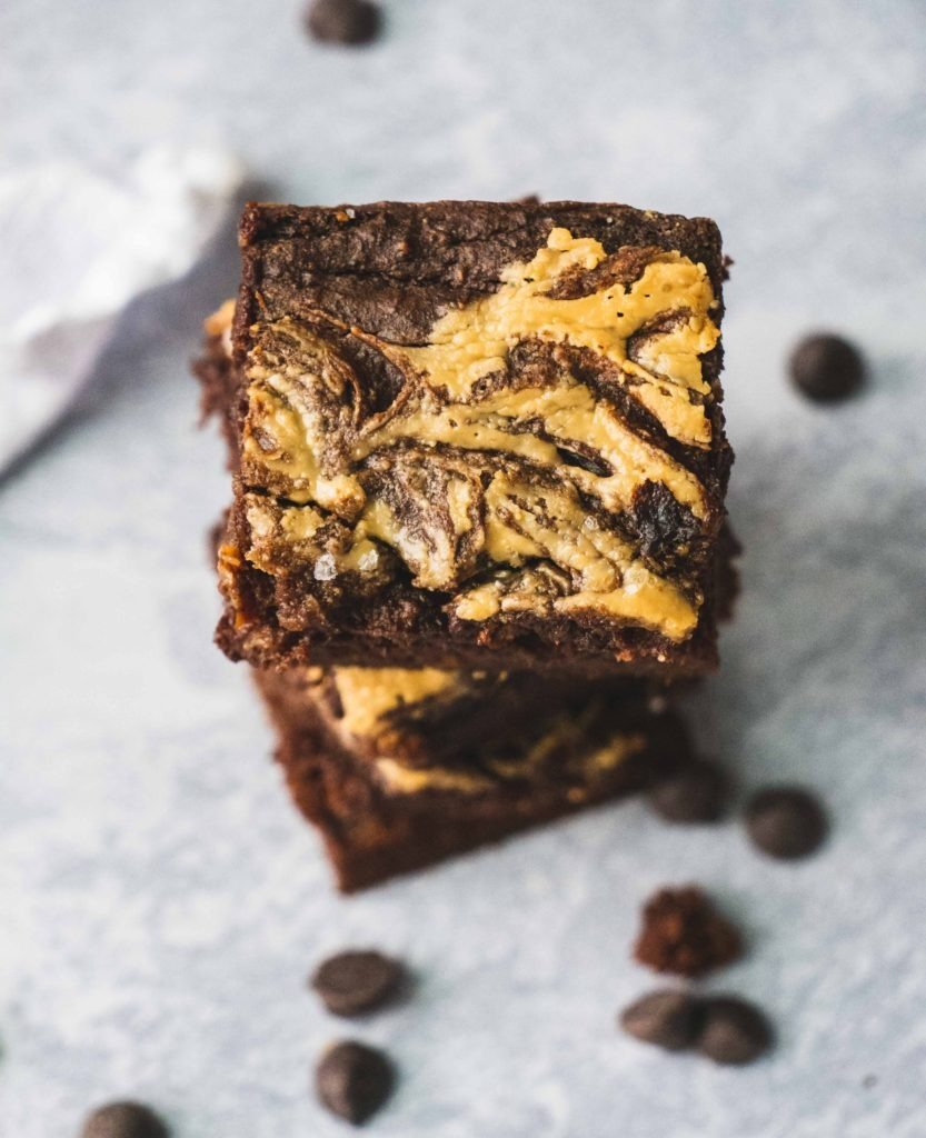 This healthy and easy flourless gooey brownie recipe is made with sweet potato and almond butter.