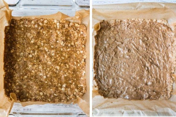 steps to making crumble bar's crust
