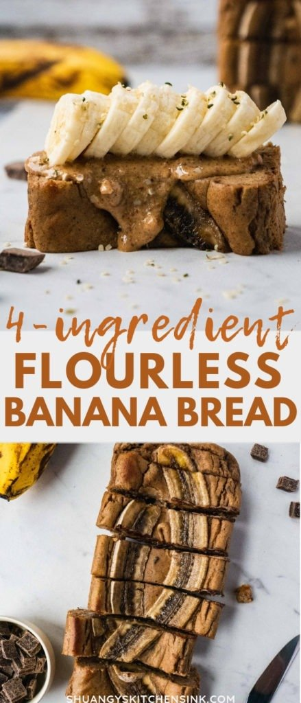 Healthy Paleo Banana Bread | This healthy paleo banana bread recipe is the best dessert or breakfast. it is also healthy, gluten free, dairy free and super easy dessert recipe to make. It is perfect to kick your sweet tooth even on paleo diet. It makes a satisfying and easy paleo breakfast, healthy paleo dessert or snacks that's also sugar free! This healthy paleo banana bread is the best healthy easy banana bread to share with your family.| #shuangyskitchensink #paleorecipe #paleodessert #healthydessert #paleobreakfast#bananabreadrecipe #glutenfree #paleo #paleobananabread