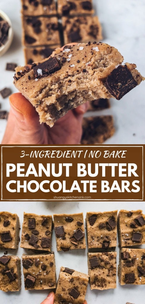 3-ingredient no bake Peanut Butter Fudge | This Peanut butter Chocolate Fudge recipe is raw vegan and only require 3 ingredient. It is so fudgy, chewy and sweet. It is a healthy version of Reese's Peanut Butter Chocolate cups. It is the best vegan, dairy free, refined sugar free, keto,low carb desert and snack recipes. It is kid-friendly too. Perfect for the whole family to share. | #shuangyskitchensink #healthydessert #ketodessert #peanutbutter #nobakedessert #3ingredient