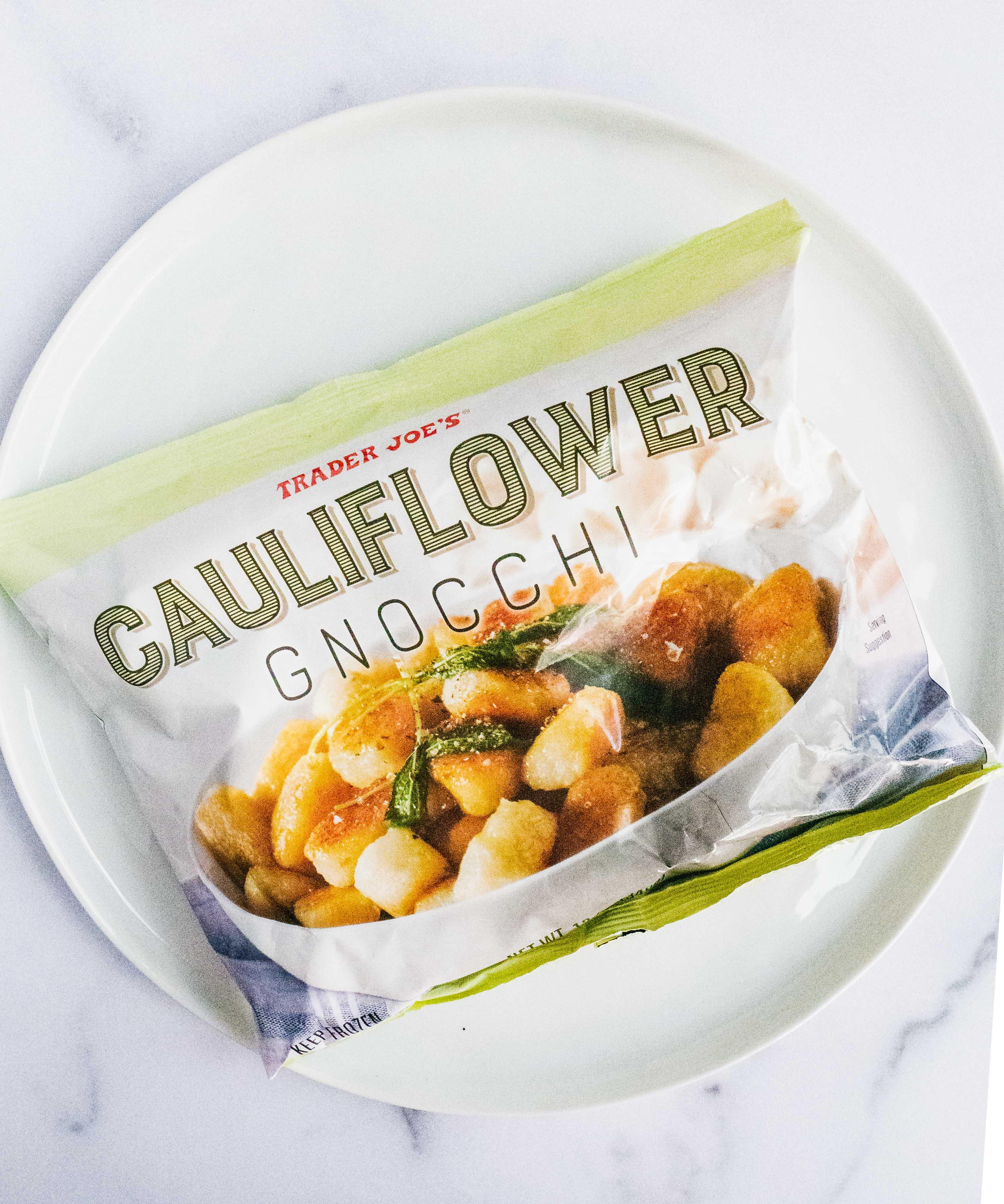 Trader Joe's Cauliflower gnocchi in a bag