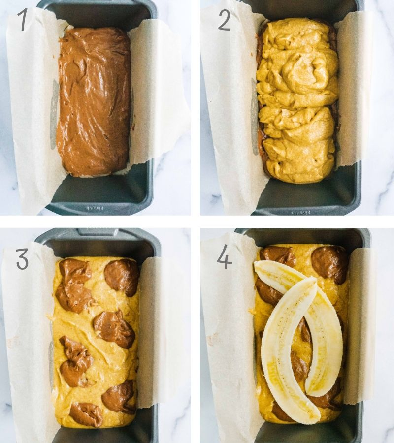 How to make Chocolate Brownie Banana Bread step by step instruction