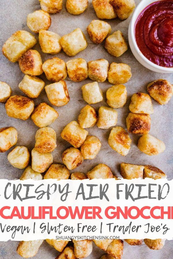 crispy air fryer gnocchi pinterest image
