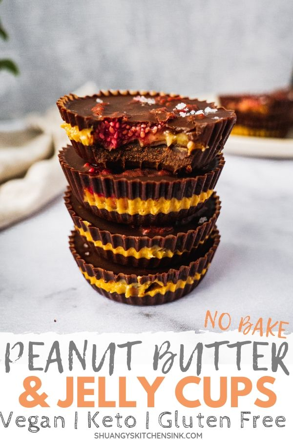 Peanut butter jelly chocolate cup pinterest image