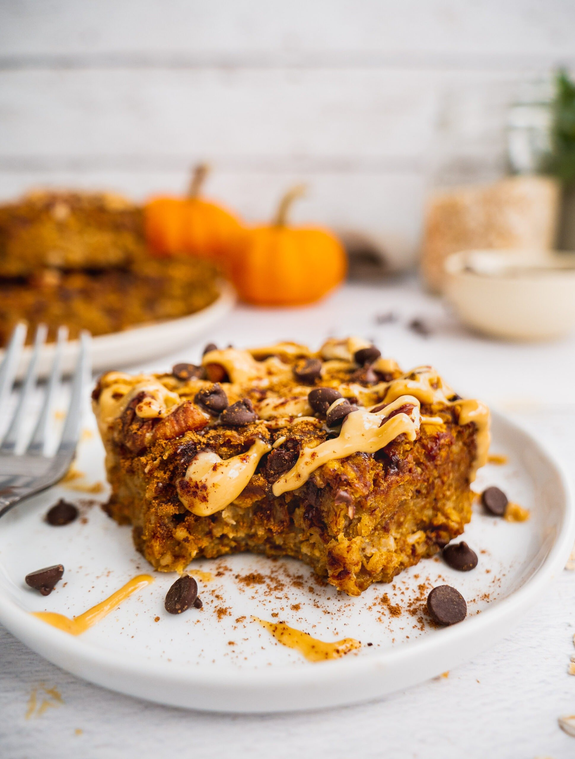 Healthy Breakfast Pumpkin Oatmeal Bars