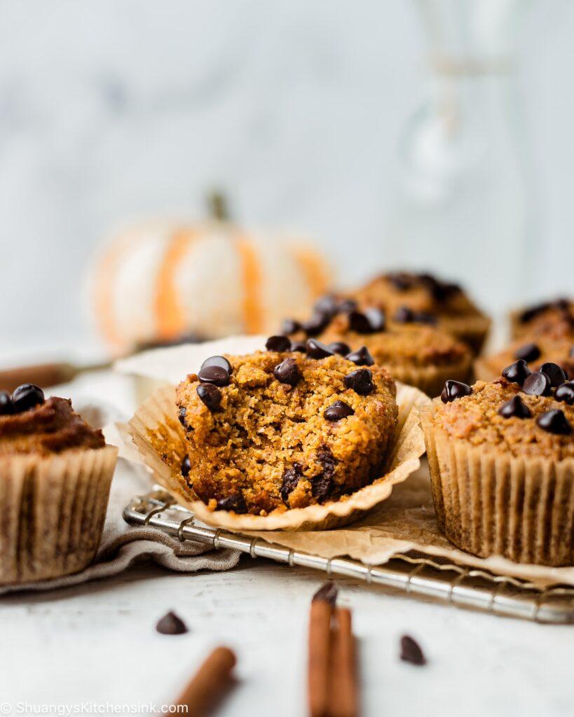 Pumpkin Chocolate Chip Muffins {Paleo}