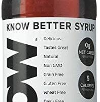 KNOW Foods Maple Syrup, Keto, Paleo, Sugar Free, Low Calorie