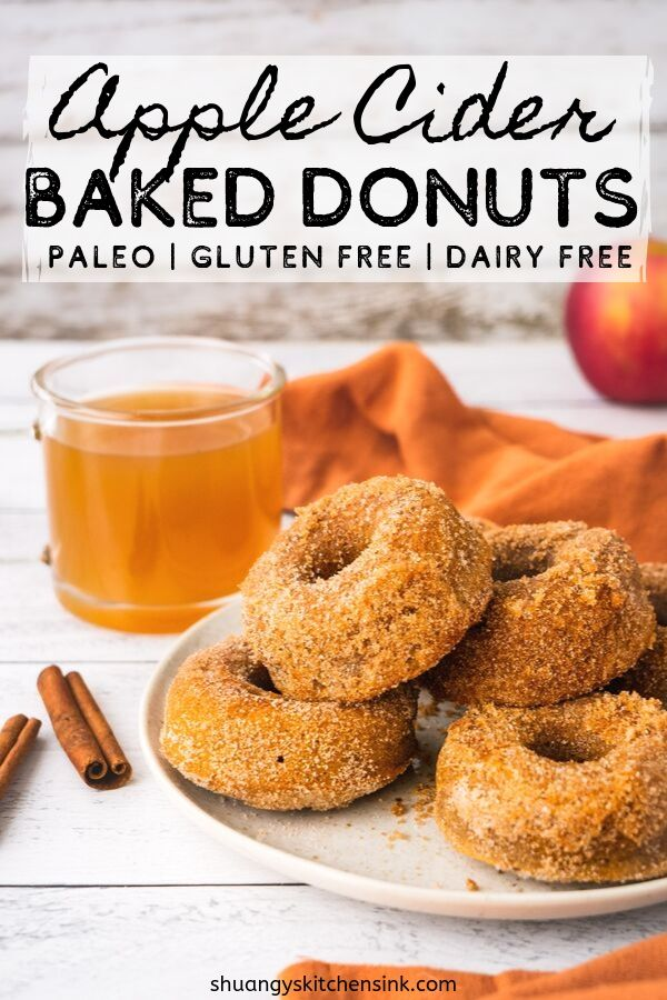 Best Apple Cider Donut | This Healthy Baked Apple Cider Donut is Packed with Spiced apple cider, cinnamon nutmeg and all the fall spices, the perfect recipe for the fall. It is gluten free, paleo and keto friendly. Can't get better than that.|#applecider #appleciderdonut #donut #healthydonut #paleodessert #fallrecipe #glutenfreerecipe