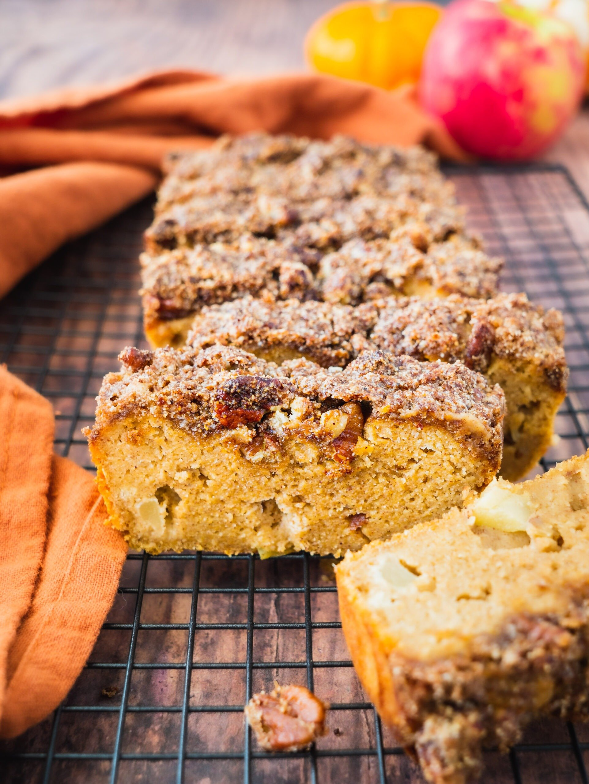 Apple Bread with Crumble Topping (Paleo, GF)