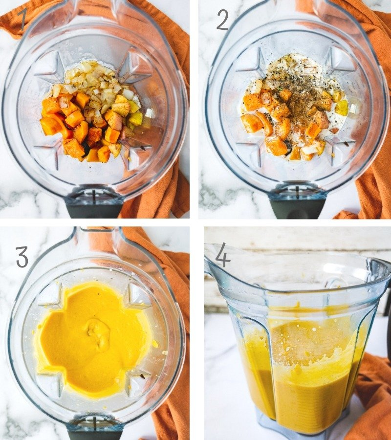 Step by Step instruction on how to make the best roasted butternut squash soup