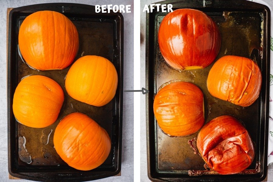 step by step instruction on how to make pumpkin puree from scrach.