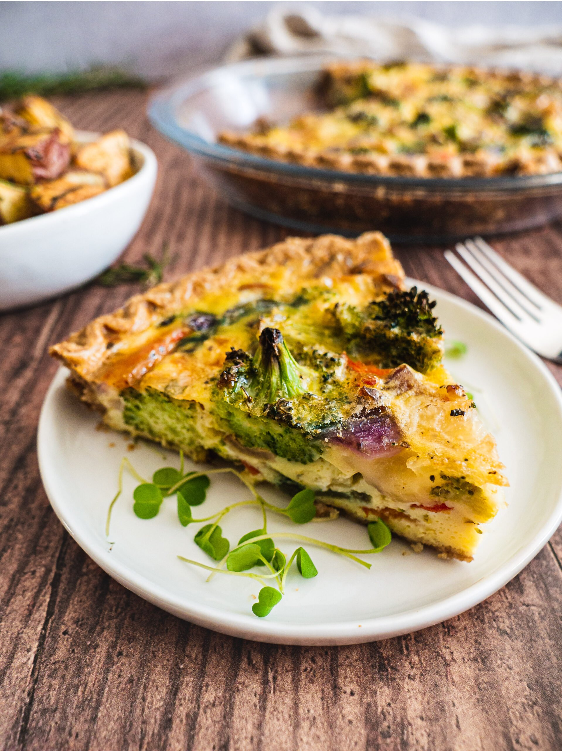 Broccoli Bacon Breakfast Quiche (Whole 30, Keto)