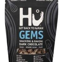 Hu Gems Chocolate Vegan Snacks | Paleo, Gluten Free Dark Chocolate Chips | Baking and Snacking Chips | Plant Based, Non GMO, Kosher | 9oz