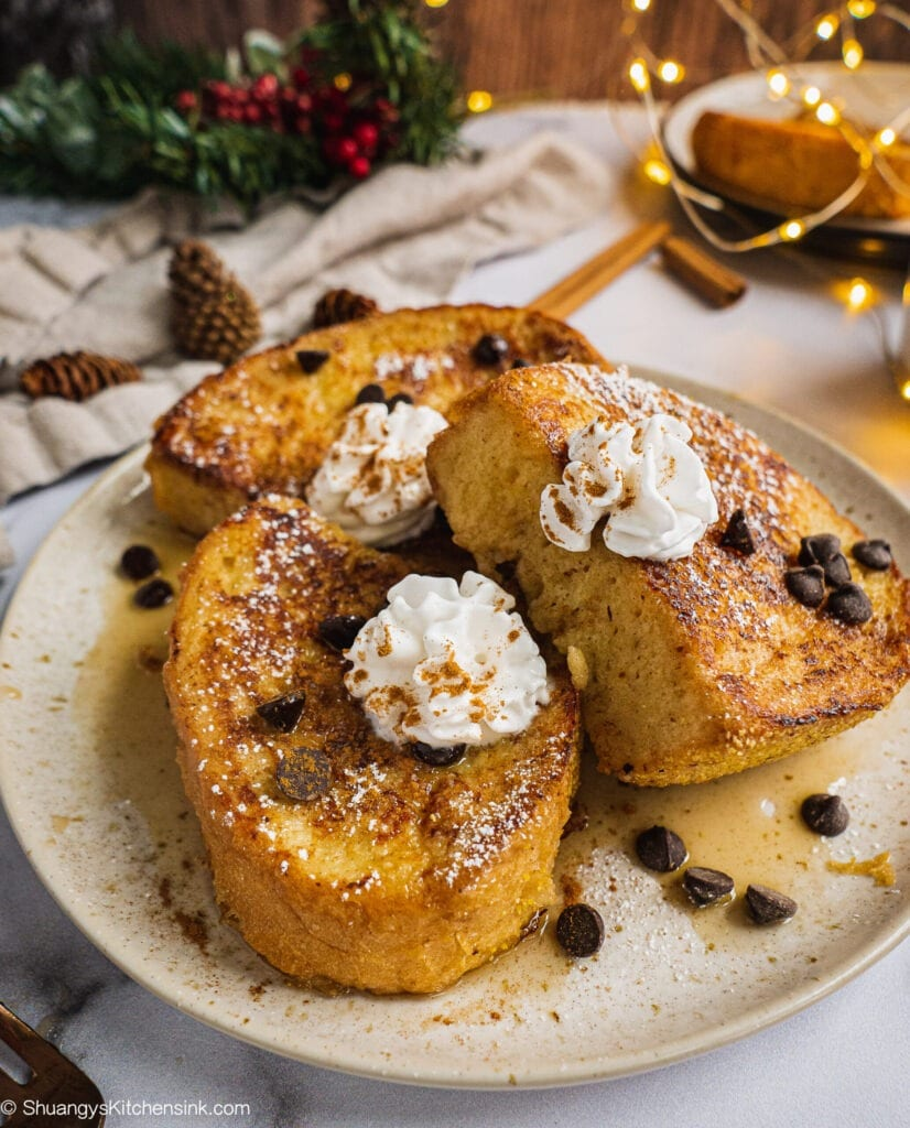 EggNog French Toast (Dairy Free)