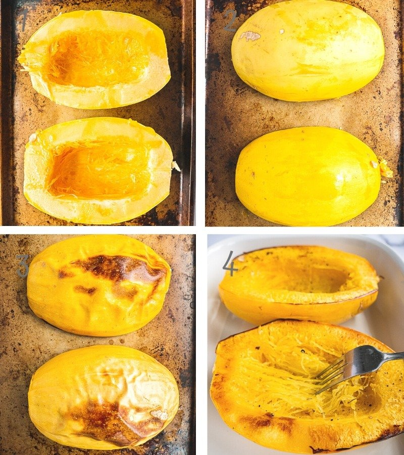 Instruction on how to make Spaghetti Squash, step by step