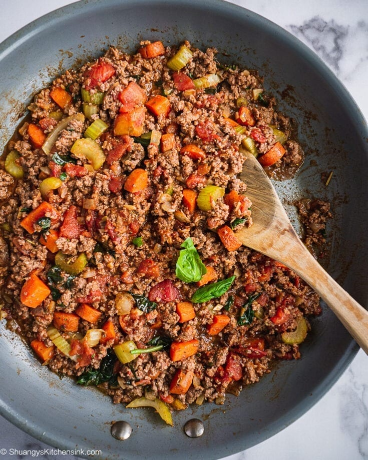Healthy Bolognese Sauce (Whole30, Keto)