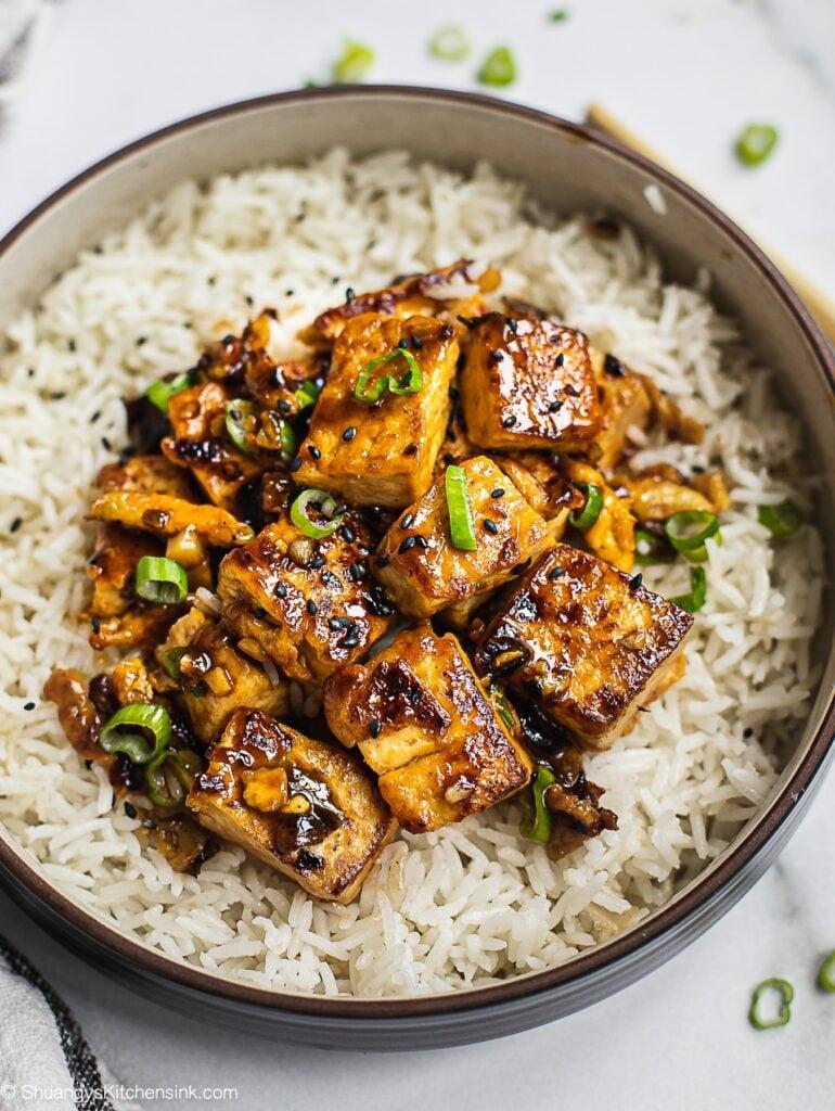 Chinese Garlic Tofu Stir Fry