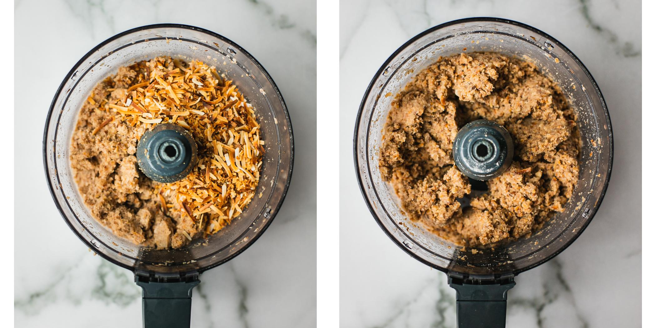 Instructions on how to make samoas cookies in a food processor.