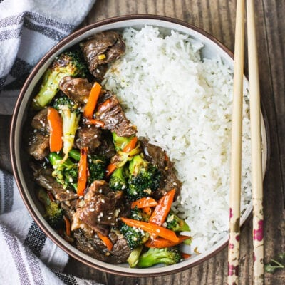 Healthy Beef and Broccoli Stir Fry {Whole30}