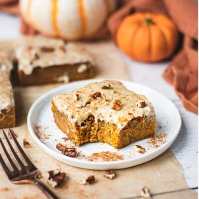 Pumpkin Bars with Cream Cheese Frosting {Vegan}