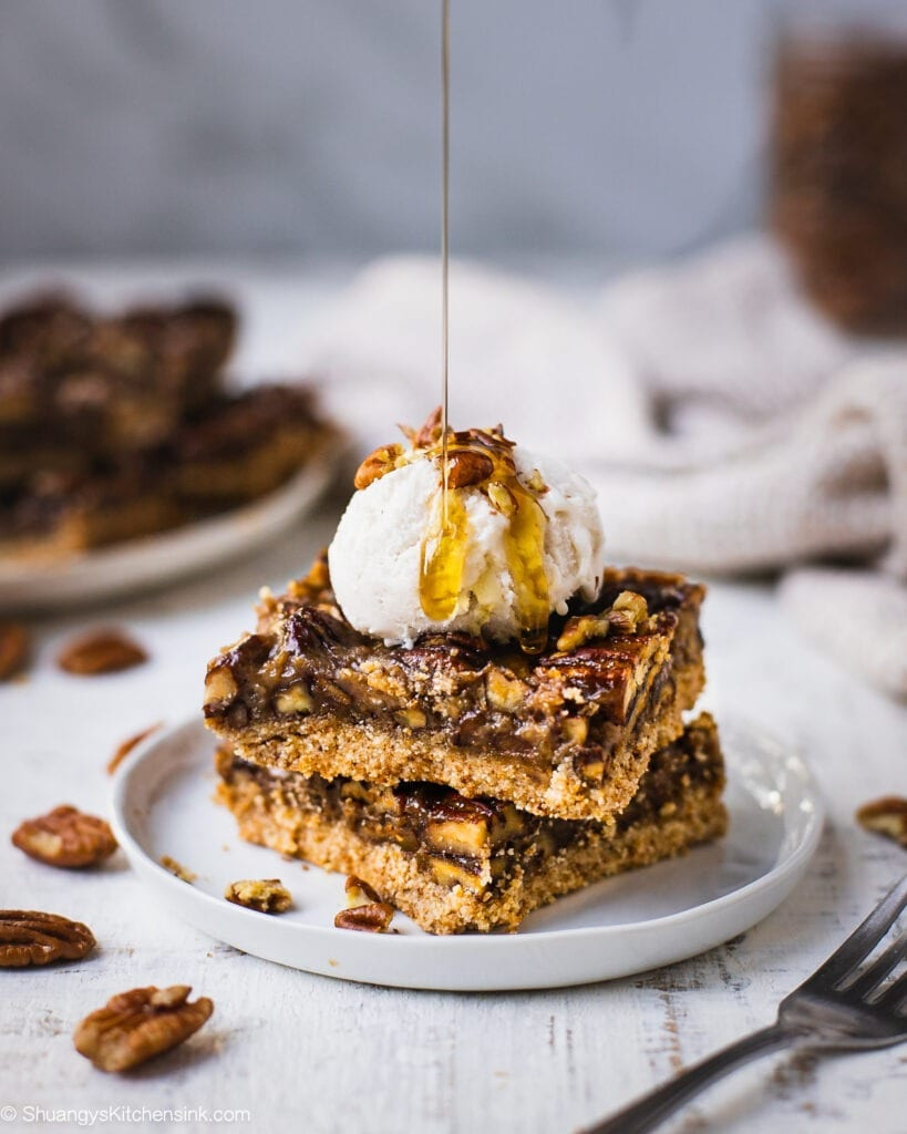 Vegan Pecan Pie Bars