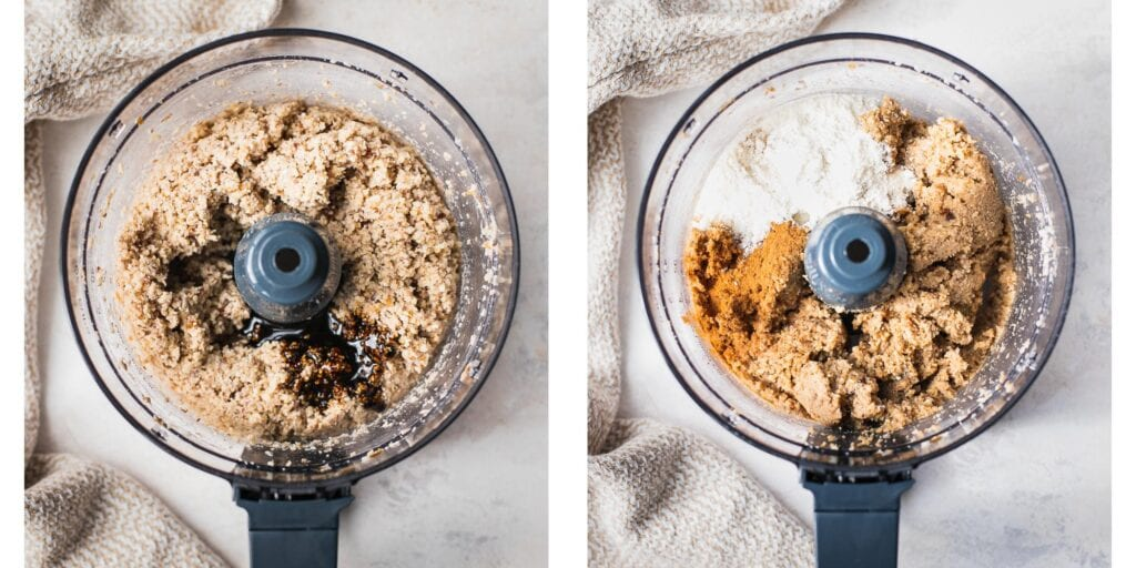 Instruction on how to make snickerdoodle cookies in a food processor.