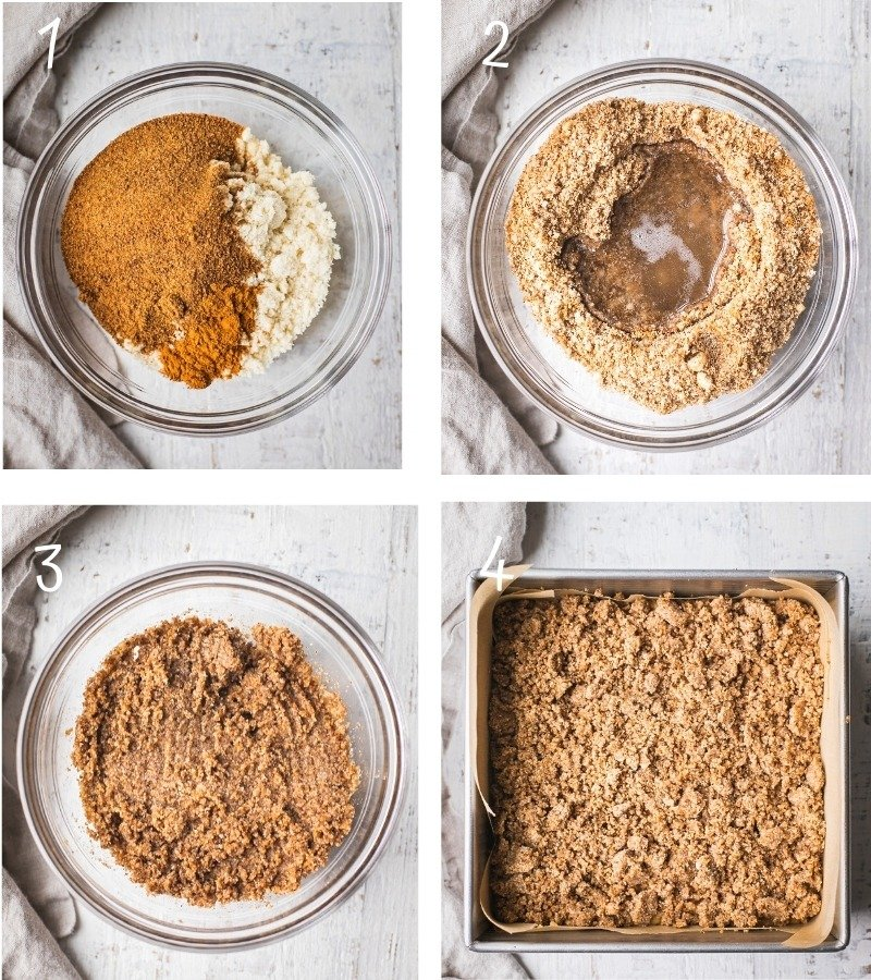 Step by Step instruction on how to make easy and classic healthy coffee cake.