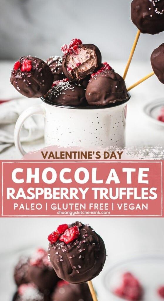 Pinterest picture for a healthy Valentine's Dessert