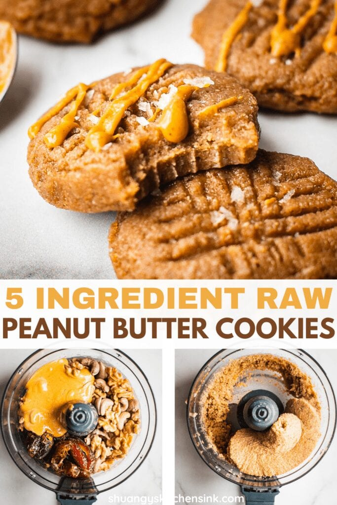 Gluten Free Dairy Free Peanut Butter Cookies with sea salt. It makes the perfect no bake dessert.