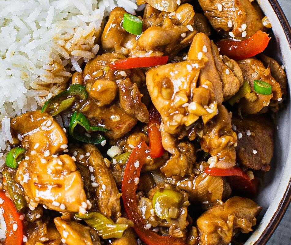 Healthy Chinese Garlic Chicken