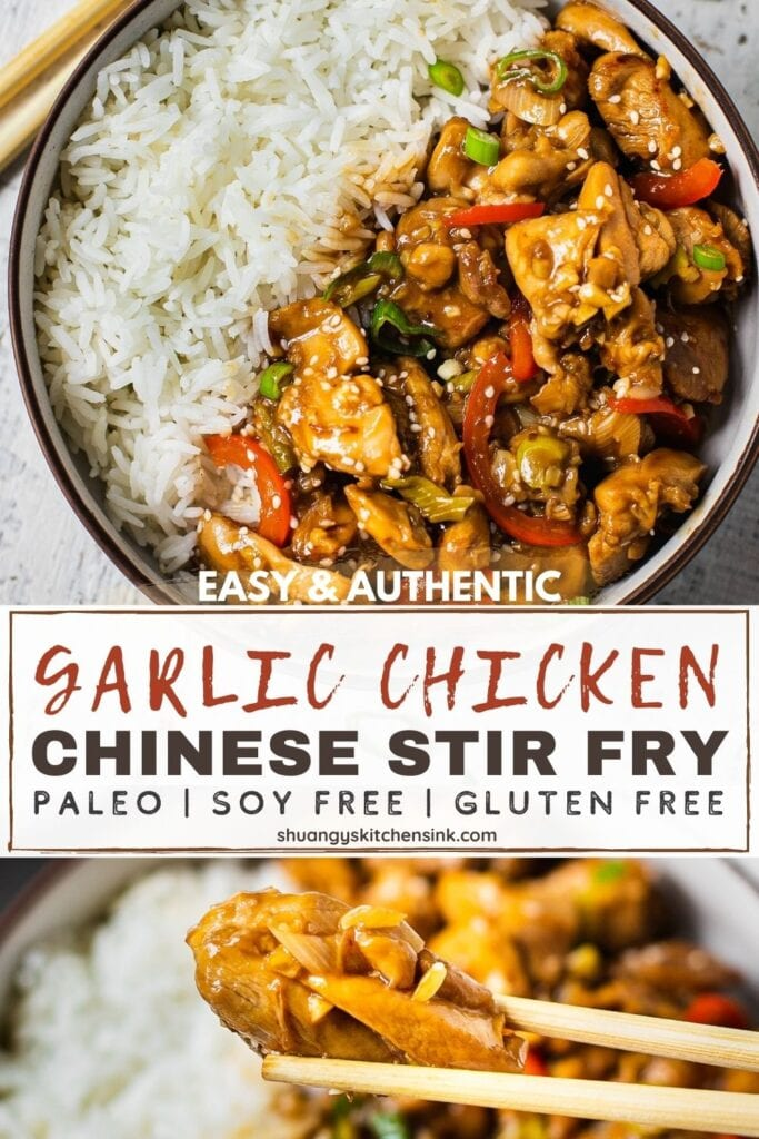 Pinterest Picture of easy and authentic Chinese Stir fry