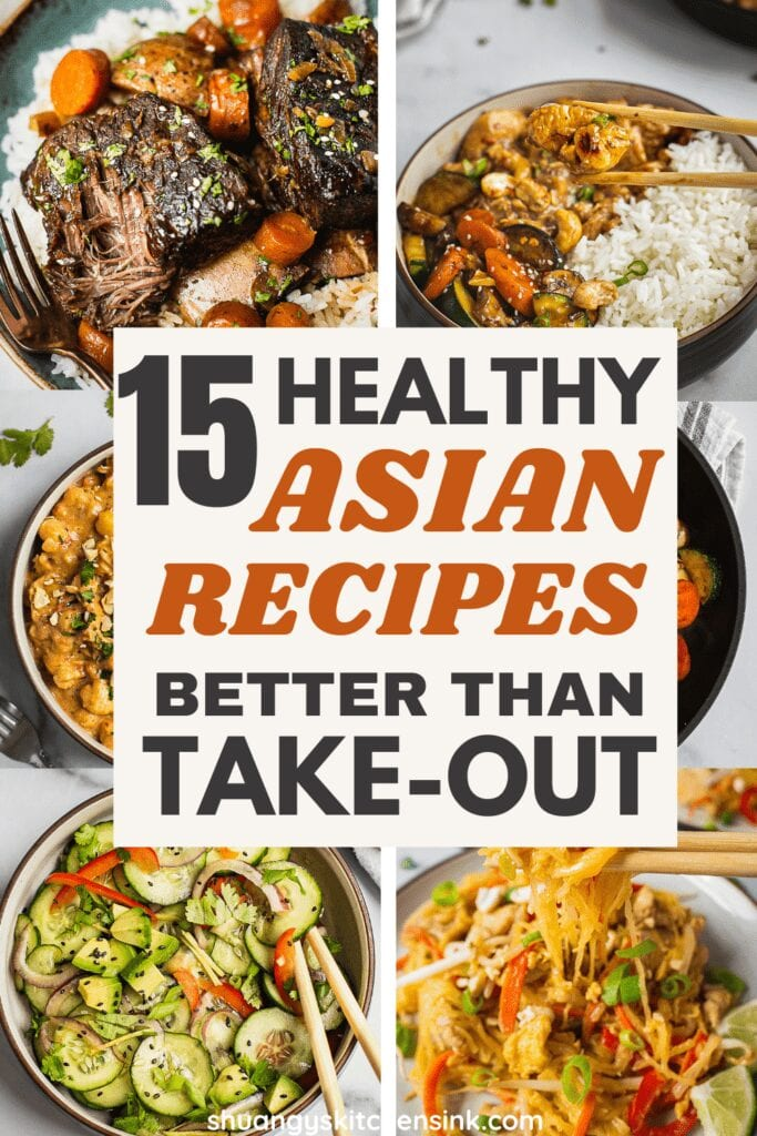 A collection of easy to make, healthy Asian food recipes, healthy Asian dinner recipes.