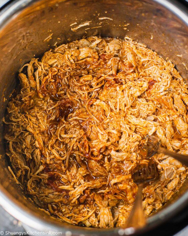 Shredded chicken in an instant pot