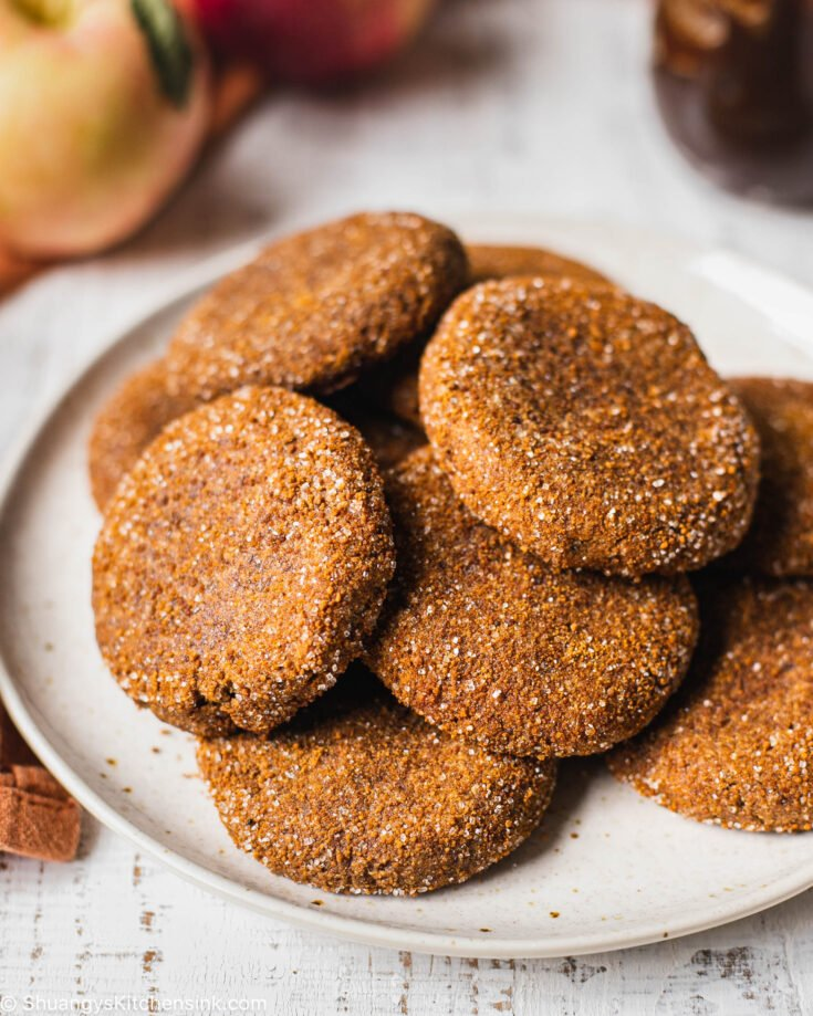 a plate of healthy and gluten-free cookies