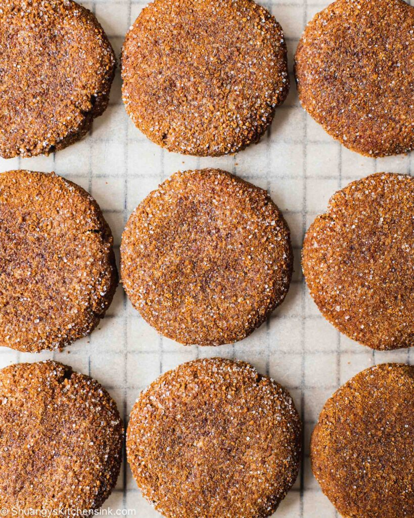 healthy apple butter cookies dusted with apple pie spice sugar