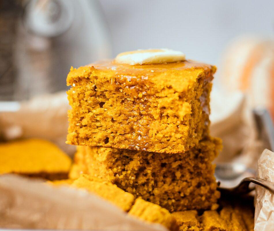 Pumpkin Cornbread {Gluten-free}